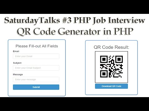 🔴saturdaytalks-#3-php-job-interview-|-qr-code-generator-in-php-with-live-demo-|-machine-test-🔥🔥