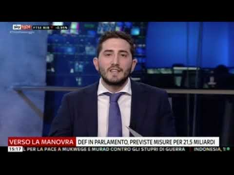 Cristian Romaniello ospite a Sky TG24 05-10-2018