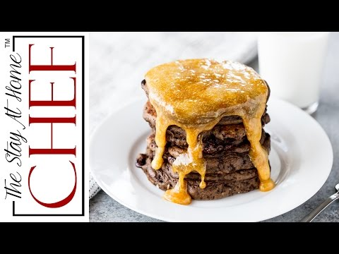 How to Make Chocolate Pancakes with Caramel Syrup