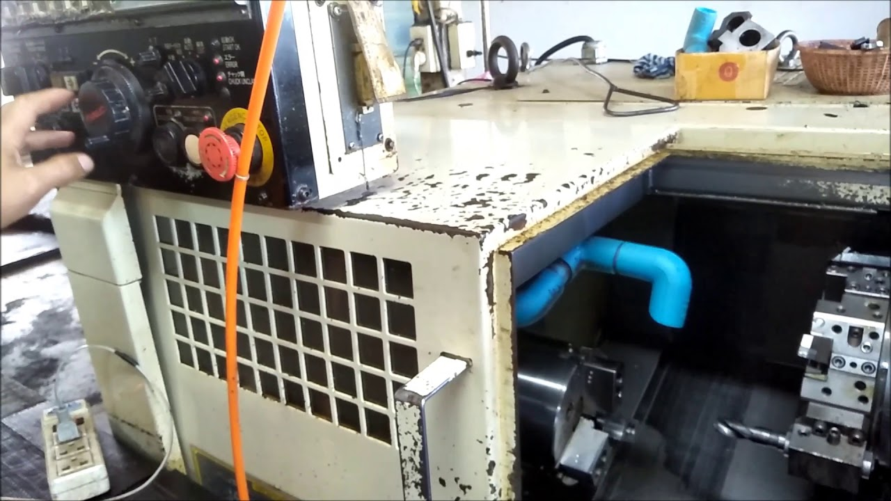 Set ตำแหน่ง TOOL NO.1 Lathe CNC Machine (Turret)