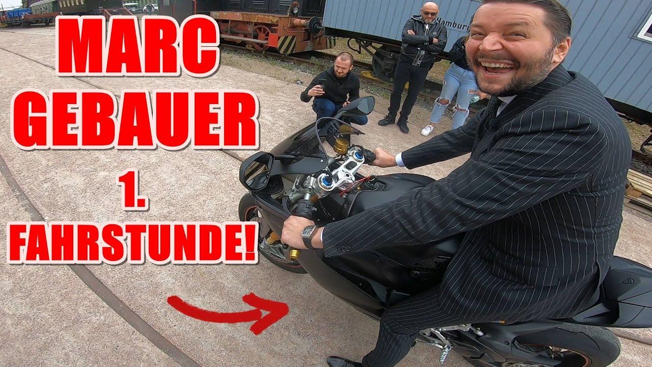 MARC GEBAUER fährt zum 1. Mal Motorrad! | Jochen Schweizer