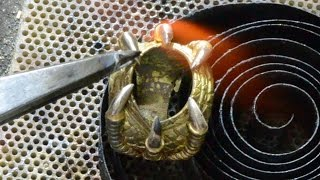 DragonEye 18kt gold ring handmade
