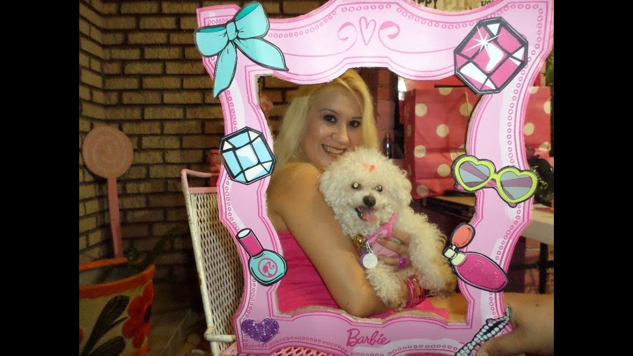 ♥ Barbie Portaretratos Grande Para Mi Fiesta De Cumpleaños ♥ - YouTube