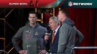 Tom Brady & Matt Ryan Face Off Interview   NFL Network   Super Bowl LI Opening Night