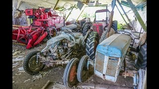 Abandoned Farmhouse with many old tractors!