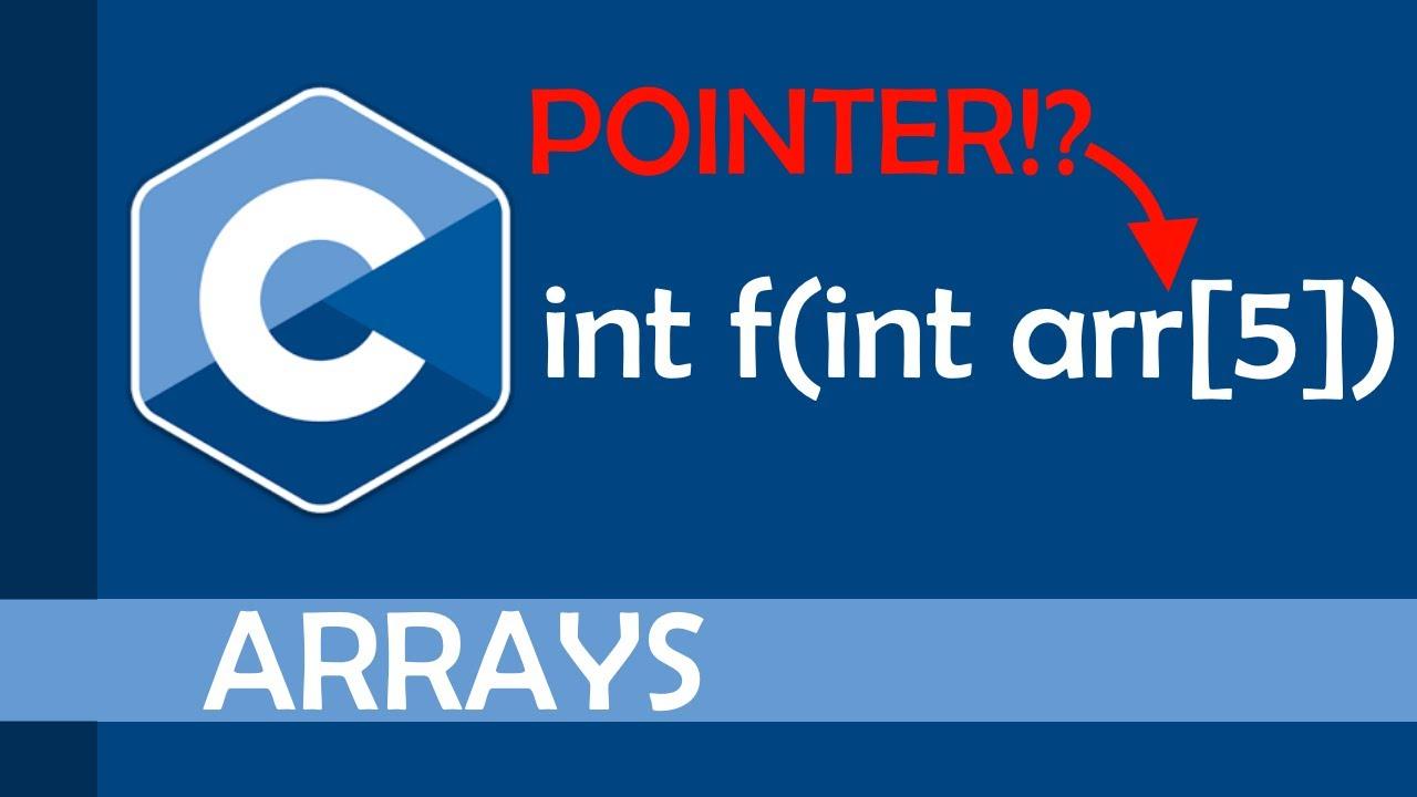 Arrays as function parameters in C
