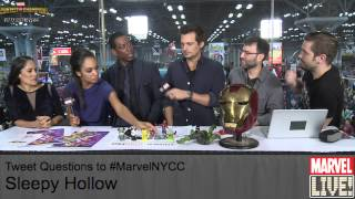 The Cast of Sleepy Hollow Stop By Marvel LIVE! and Talk Cosplay at NYCC 2014