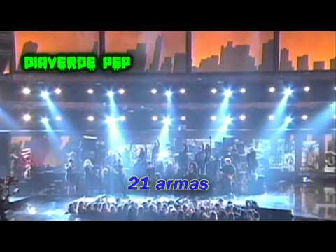 Green Day & Cast From American Idiot- 21 Guns- (Subtitulada en Español)