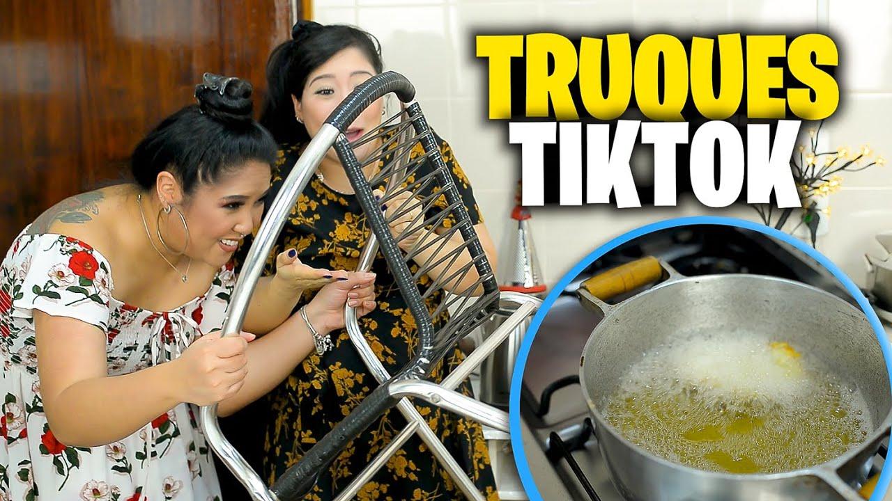 TESTANDO TRUQUES DE COMIDA DO TIK TOK - FOOD HACKS VIRAIS | Blog das irmãs