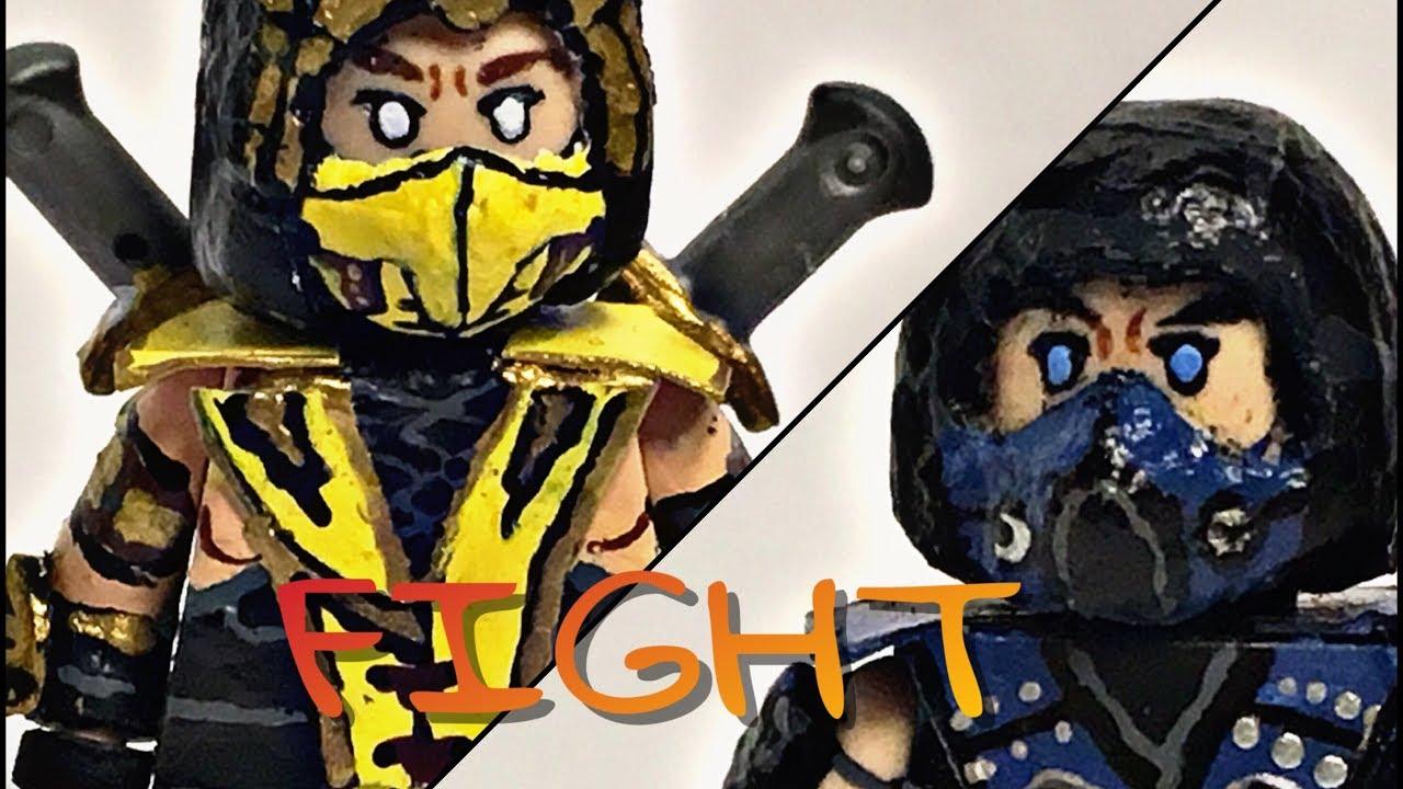 Lego Custom Mortal Kombat: Scorpion & Sub-Zero - YouTube  Lego Custom Mor...
