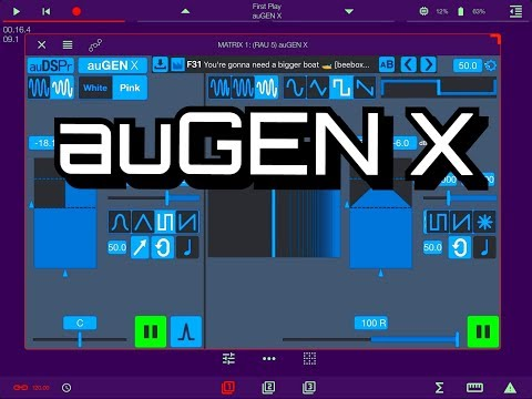 au GEN X - Expessive Audio Generator - AUv3 - Pre Release Demo for the iPad