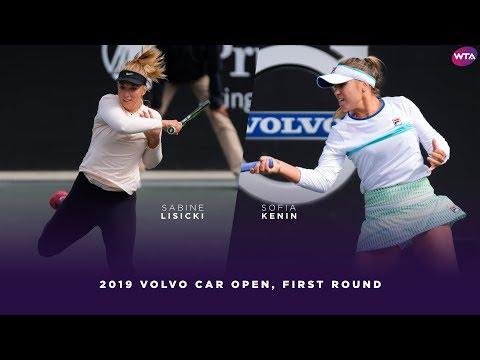 Sabine Lisicki Vs. Sofia Kenin  | 2019 Volvo Car Open First Round | WTA Highlights
