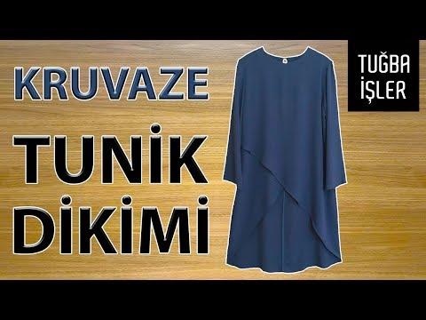 Kruvaze Tunik Dikimi - Arkası Uzun Önü Kısa Tunik Yapımı (KENDİN YAP) | Tuğba İşler