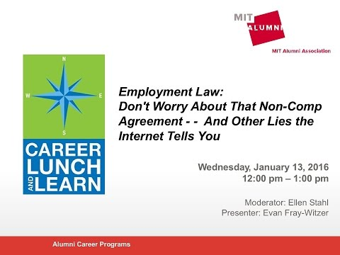 Career Lunch & Learn: Employment Law and the Non-Compete Agreement