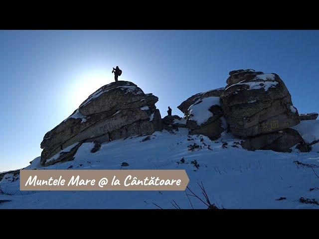 Pe rachete, pe zăpadă @ la Muntele Mare, la Cântătoare