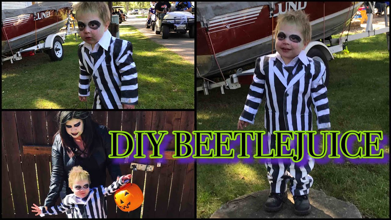 Diy Toddler Beetlejuice Custome Youtube