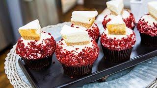 Dan Langan's Red Velvet Cakes with Mini-NY Cheesecakes - Home & Family
