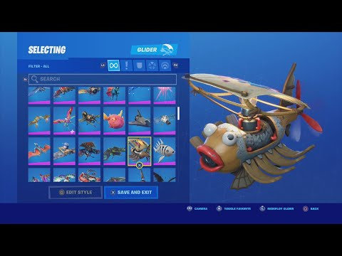 ALL Fortnite Item Shop,Battle Pass, Bundle Pack & FREE Gliders! TRUMAnn Showcasing ALL 225 Gliders!