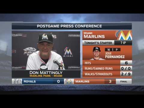 Don Mattingly -- Miami Marlins vs. Kansas City Royals 08/24/2016