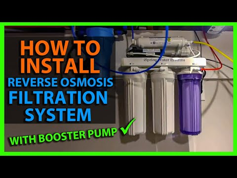 How To Install a Reverse Osmosis RO Water System - Basement with Booster Pump iSpring RCC100P