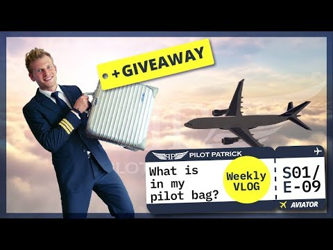 WHAT IS IN MY PILOT BAG | MY DAY AS AN AIRLINE PILOT | VLOG #09
