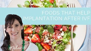 3 nutritious foods that help implantation after ivf http://www.melaniemcgrice.com.au/fertility so, you want to know if there are any implanta...