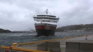 MS Nord Norge go to the Hurtigruten pier in Bodø