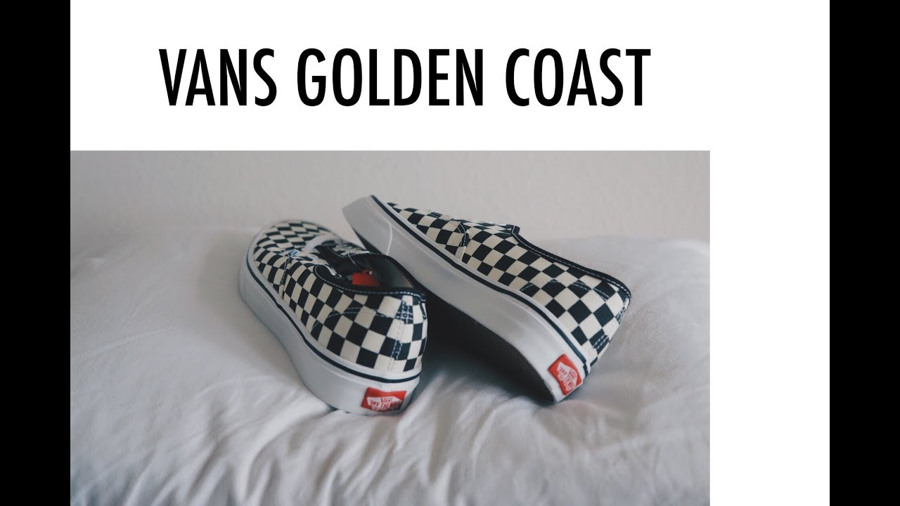 77cdd97ded92 Vans Authentic Checkered Golden Coast - YouTube