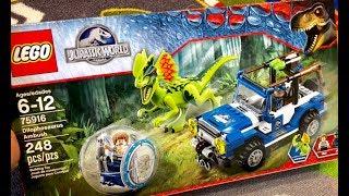 LEGO JURASSIC WORLD Fallen Kingdom - LEGO Dilophosaurus AMBUSH - Lego 75916 - Dinosaur Toys