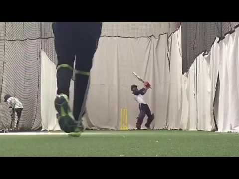 Opening batsman rahim khan in the nets