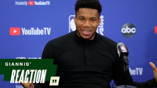 """Giannis' Reaction: """"When this team is humble this team is very dangerous.""""   7.17.21"""