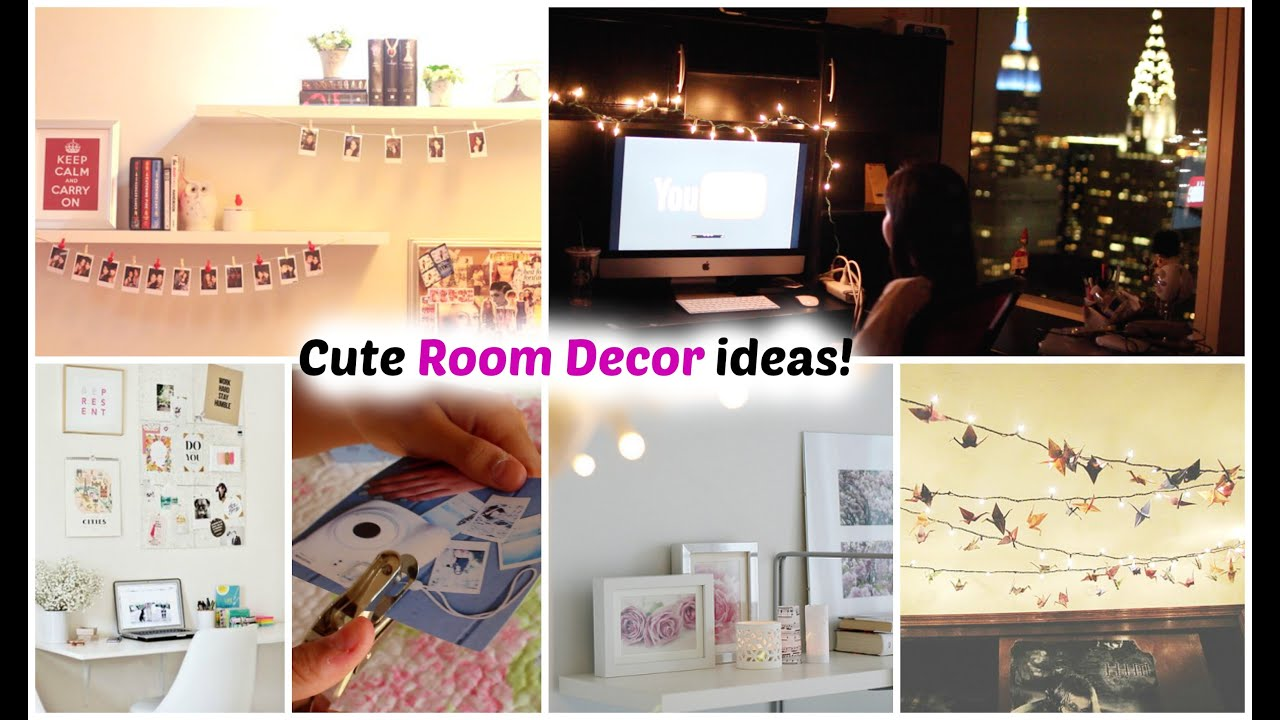 Diy quick easy room decoration ideas youtube for Quick and easy room decor ideas