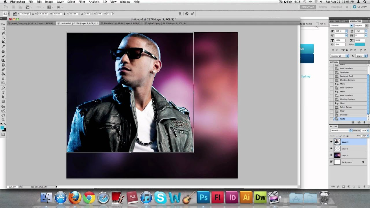 How to make a CD cover using Photoshop - YouTube