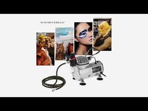 KKmoon Professional 3 Airbrush Kit With Air Compressor Dual-Action Hobby Spray Tattoo N...
