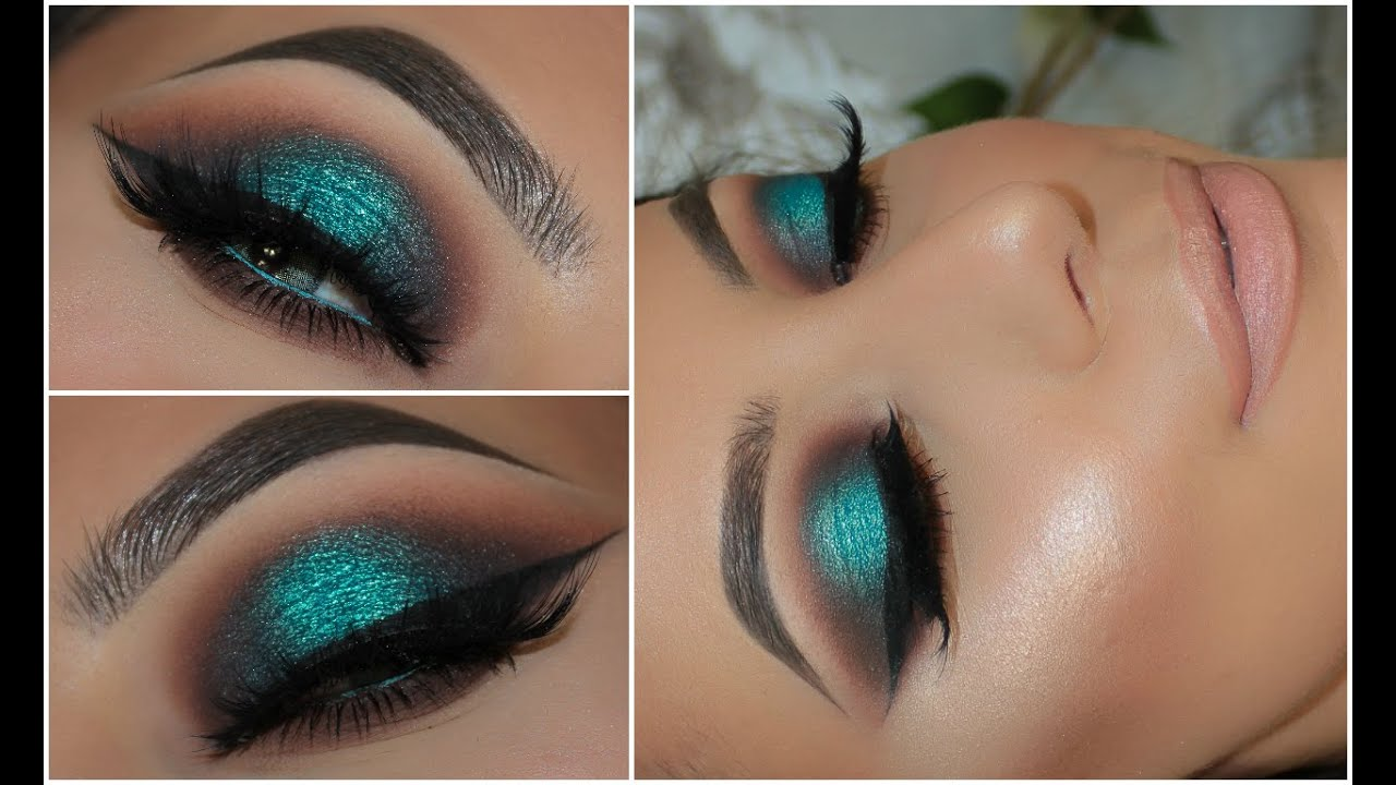Halo Teal Pop Of Colour Smokey Eye Amys Makeup Box Youtube