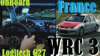 Logitech G27 Steering Wheel gameplay - World Rally Championship 3, France, Mitsubishi Lancer EVO IX.