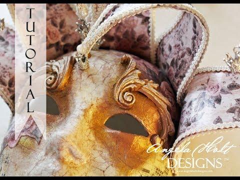 Venetian Mask Tutorial Part 2 of 3 Featuring The Magic of Venezia