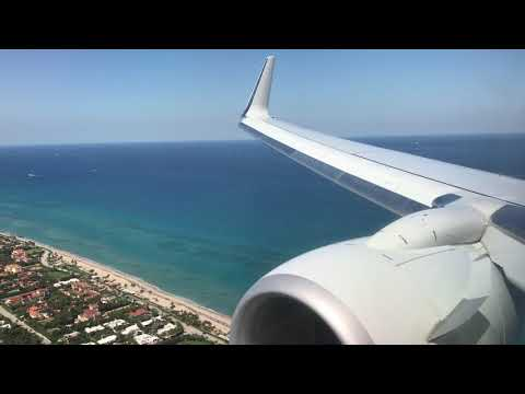 American Airlines 737 Landing In West Palm Beach (PBI)