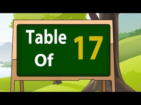 17 Times Table For Beginners |17x Table | Learn Seventeen Multiplication Tables For Kids - Maths