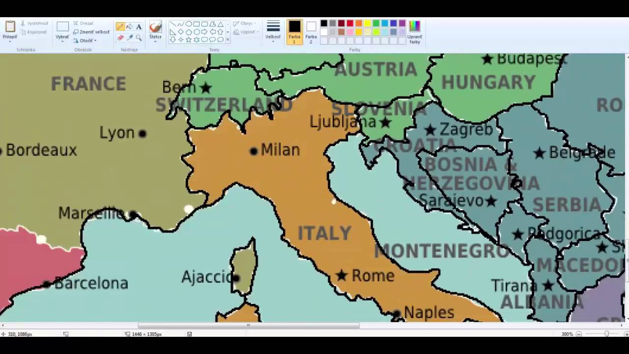 Europe-drawing blank map #1 - YouTube