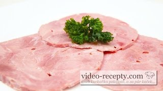 Homemade pork ham without emulsifier - video recipe