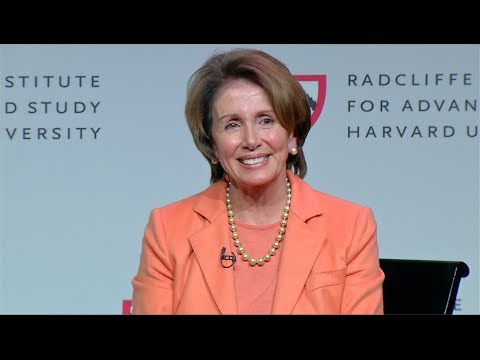 A Conversation with House Democratic Leader Nancy Pelosi    Radcliffe Institute