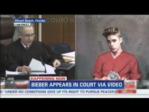 Justin Bieber Court Sentencing (in jail) funny version