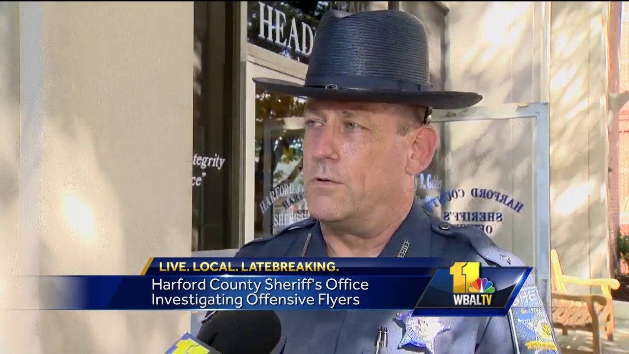 Video: Harford sheriff investigating racist fliers