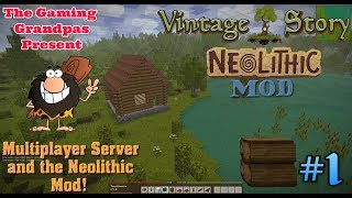 Vintage Story - Neolithic Mod - Multiplayer #1: Multiplayer Server and the Neolithic Mod!