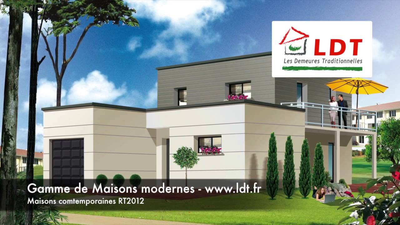 maisons ldt mod les de maisons modernes youtube. Black Bedroom Furniture Sets. Home Design Ideas