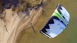 KITEBOARDING FROM DRONE VIEW!