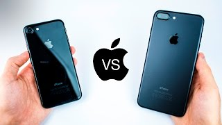 iPhone 7 VS 7 Plus - Jet Black VS Matte Black - Durability & Scratch Review! (after 3 Months)