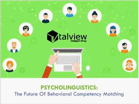 Psycholinguistics   The Future of Behavioral Competency Matching
