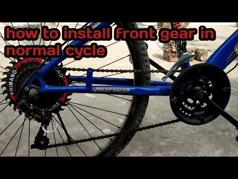 How to install front gear in cycle or bicycle & MTB for any cycle. Step by step by mayank s 41